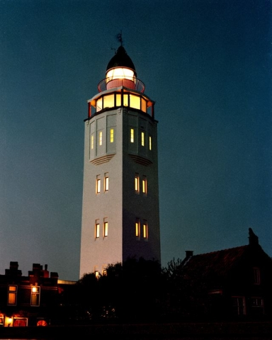 Vuurtoren Harlingen by night